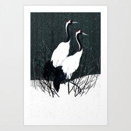 Japanese Cranes / Sayuri Art Print