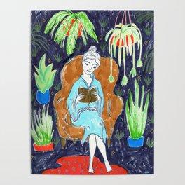 Jungle Reading Room Drawing by Amanda Laurel Atkins Poster
