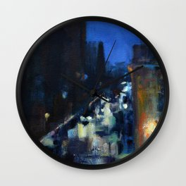 Rainy Morning at the Rockville Centre Cathedral Wall Clock