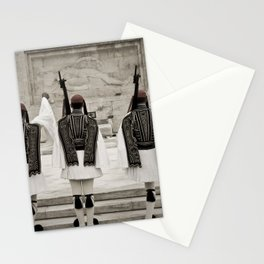 Greek National Guard of Honor near Athens Parliament Stationery Cards