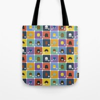 starwars Tote Bags featuring StarWars quotes by Thiago Grossmann