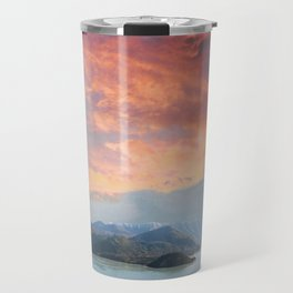 Sunset Over Lake Como Italy Travel Mug