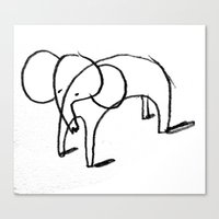elephants Canvas Prints featuring elephants by Sammy Arnault-Ham Illustration