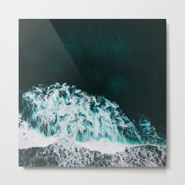 WaVes Land Metal Print