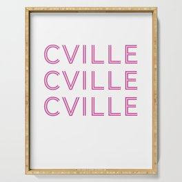Cville in Pink Serving Tray