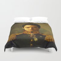 replaceface Duvet Covers featuring Elijah Wood - replaceface by replaceface