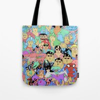 it crowd Tote Bags featuring Crowd by Joseph Falzon