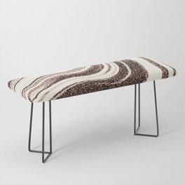 Textured Marble - Brown & Cream Bench