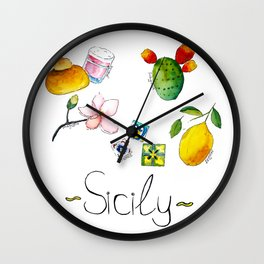 Signs of Sicily Wall Clock