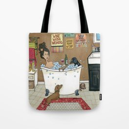 Wieners in the Tub Tote Bag