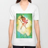 mythology V-neck T-shirts featuring Gryphon mythology by Joe Ganech