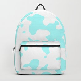 Large Spots - White and Celeste Cyan Backpack