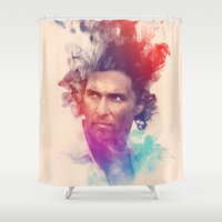 true detective Shower Curtains featuring True Detective by Pepe Psyche