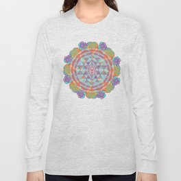 Serendipity Sri yantra Long Sleeve T-shirt