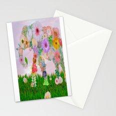 Elephant in my garden Stationery Cards