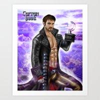 captain hook Art Prints featuring Captain Hook by Steven H. Garcia