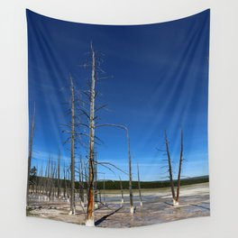 Lodgepole Pines In Geyser Basin Wall Tapestry
