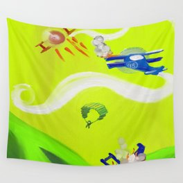 Aerial Battle Wall Tapestry