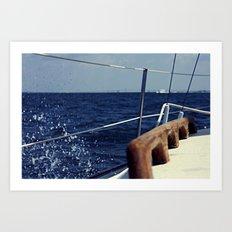 Waves Breaking to Windward Art Print