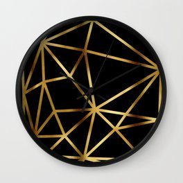 In Gold Triangles. Art Deco. Wall Clock