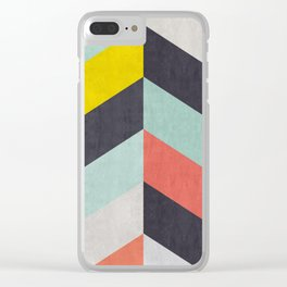 Triangular composition XVII Clear iPhone Case