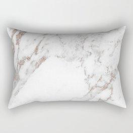 Rose gold shimmer vein marble Rectangular Pillow