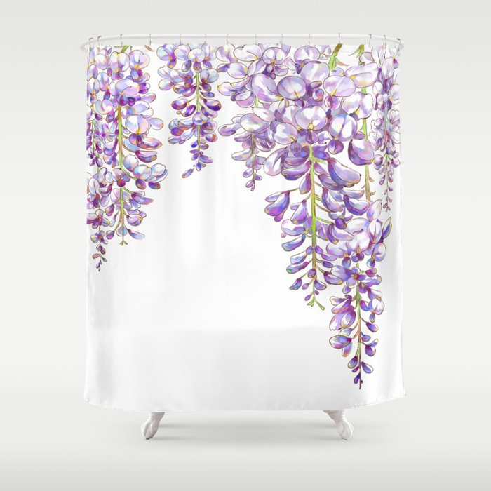 Wisteria Shower Curtain By Kellychong