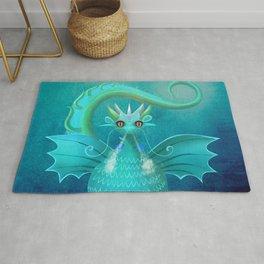 Blue Dragon Rug