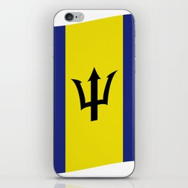barbados flag iPhone Skin