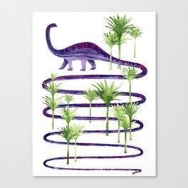 Dinosaur walk (Prehistoric beauties) Canvas Print