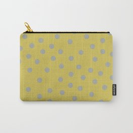Simply Dots Retro Gray on Mod Yellow Carry-All Pouch