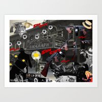 sin city Art Prints featuring Sin City by Phillip J. Speciale