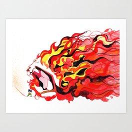 Lion Roar!! Art Print