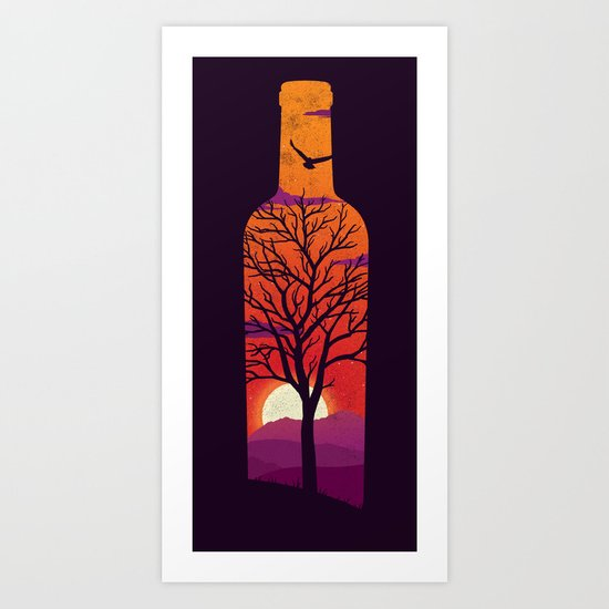 Bottled Up  Art Print