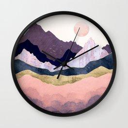 Mauve Mist Wall Clock