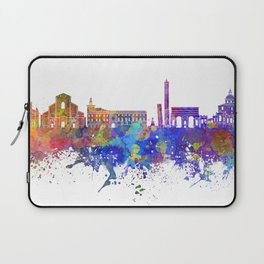Bologna skyline in watercolor background Laptop Sleeve