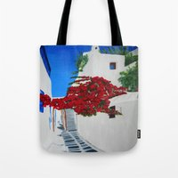 greece Tote Bags featuring Greece by maggs326