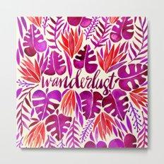 Tropical Wanderlust – Magenta Palette Metal Print