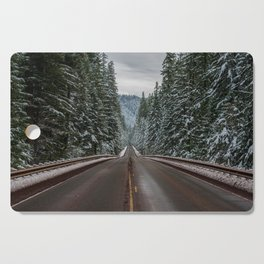 Winter Road Trip - Pacific Northwest Nature Photography Cutting Board