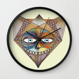 Parted and Feathered Wall Clock