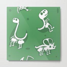 Dinosaur fossils pattern Metal Print