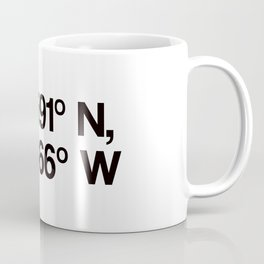 Coordinates of the Richard Rogers Theater - Home of Hamilton: The American Musical Coffee Mug