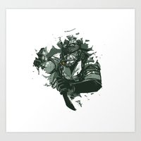 metal gear solid Art Prints featuring Metal Gear Solid - Big Boss by Lulu H