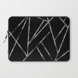 Classic Black Silver Geo #1 #geometric #decor #art #society6 Laptop Sleeve