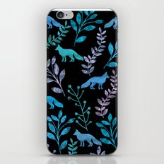 Watercolor Floral & Fox IV iPhone & iPod Skin