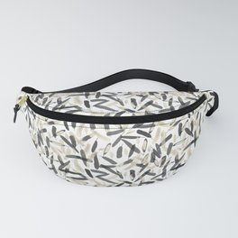 Black and White feather pattern faded Fanny Pack