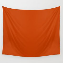 Rusty Burnt Orange Solid Rich Rust Colour Wall Tapestry