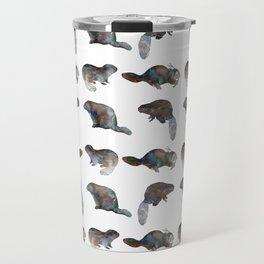 Beaver Pattern Travel Mug