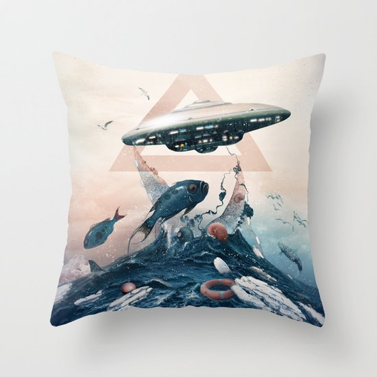 UFO Throw Pillow