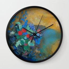 "Odilon Redon ""Ophelia among the Flowers"" Wall Clock"